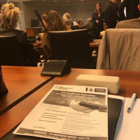 Convegno sulla mafia in Toscana - Firenze 15 marzo 2019
